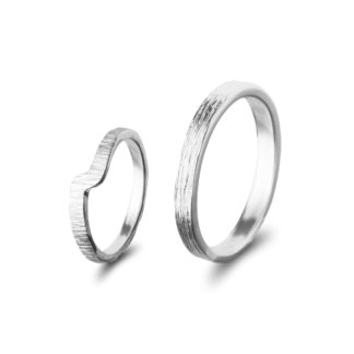 Wedding rings WOOD*WhiteWave-0
