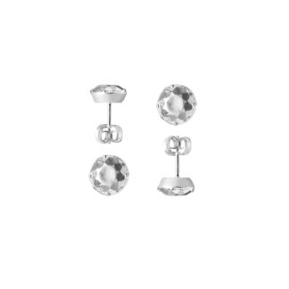 Earrings Stones Big *Silver-0