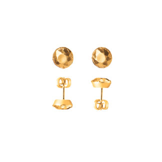 Earrings Stones Big*Gold-0
